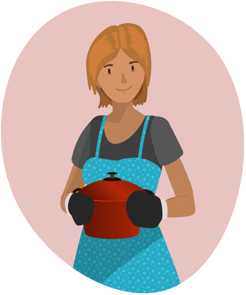 lady cooking dinner